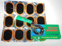 Заплатки для ремонта камер Gold Patch (12 запл.+клей)