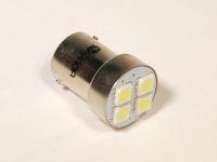 Лампа светодиодная R10W ВА15s белый 4-SMD (YADA)