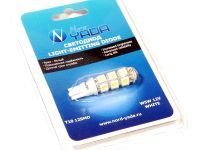 Лампа светодиодная  W5W 2,1*9,5d (осв.ном.зн,габар.) б/ц белый 12-SMD (1шт) блистер