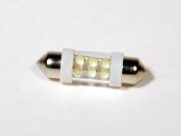 Лампа светодиодная C5W SV8.5 (салон,ном.зн) софит. белый 6-LED 36мм