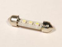 Лампа светодиодная C5W SV8.5  белый 3-SMD 39мм (YADA)