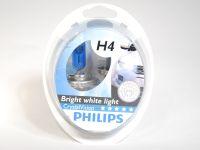 Лампа H4 60/55W (Philips)  CRISTAL VISION 4300K (2шт+2шт W5W)