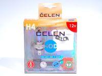 Лампа HOD 12V H4 60/55W +50% 4 Season (Celen) с переходн.