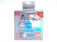 Лампа HOD 12V H4 60/55W +50% Crystal (Celen) с переходн.