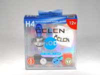 Лампа HOD 12V H4 60/55W +50% Night Ending (Celen) с переходн.