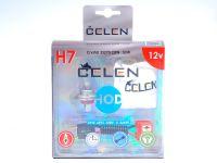 Лампа HOD 12V H7 55W +50% Crystal (Celen) с переходн.