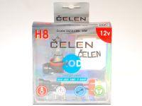 Лампа HOD 12V H8 35W +50% Crystal (Celen) с переходн.