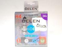 Лампа HOD 24V H4 75/70W +50% Crystal (Celen) с переходн.