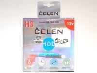 Лампа HOD 12V H3 55W +50% Crystal (Celen) с переходн.