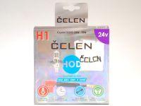 Лампа HOD 24V H1 70W +50% Crystal (Celen) с переходн.