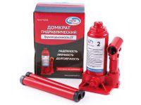 Домкрат гидравлический 2т бутылочный в коробке  (AUTOVIRAZH)