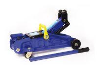 Домкрат гидравлический 2т на колесах  в кейсе (AUTOVIRAZH) синий, 345мм