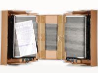 Радиатор охлаждения 2170-72 (алюм) под кондиц. Halla  (LUZAR)